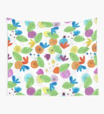 Pattern 18 - Cheerful floral Mug  Wall Tapestry