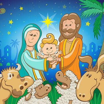 Sweet scene of the nativity of Jesus by Zoo-co