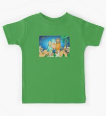 Sweet scene of the nativity of Jesus Kids Tee