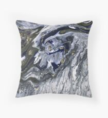 Charcoal marble Throw Pillow