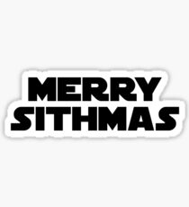 Merry Sithmas (black, bold) Sticker