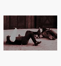 Down and Out Photographic Print