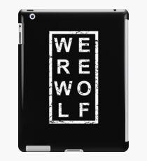 Stylish Werewolf iPad Case/Skin