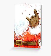 Aquarell Weihnachtsmann Grußkarte