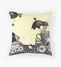 Emmet & Otis Go For A Ride Throw Pillow