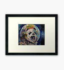 Space Panda Framed Print
