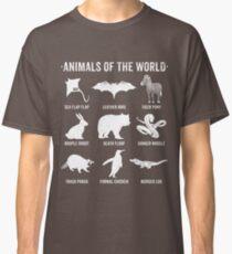 Einfache Vintage Humor Lustige seltene Tiere der Welt Classic T-Shirt