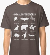Simple Vintage Humor Funny Rare Animals of the World Classic T-Shirt