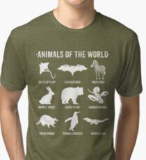 Simple Vintage Humor Funny Rare Animals of the World Tri-blend T-Shirt