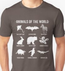 Simple Vintage Humor Funny Rare Animals of the World Unisex T-Shirt