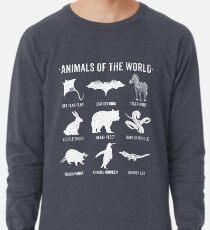 Simple Vintage Humor Funny Rare Animals of the World Lightweight Sweatshirt