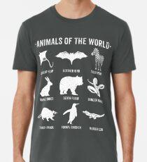 Einfache Vintage Humor Lustige seltene Tiere der Welt Premium T-Shirt