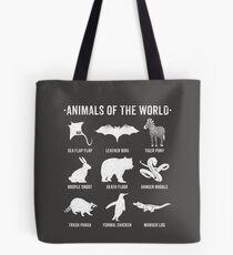 Einfache Vintage Humor Lustige seltene Tiere der Welt Tasche