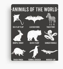 Einfache Vintage Humor Lustige seltene Tiere der Welt Leinwanddruck