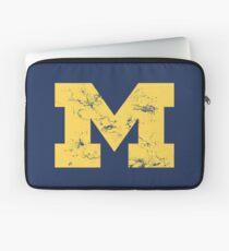Vintage Michigan Block M Yellow Laptop Sleeve