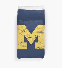 Vintage Michigan Block M Yellow Duvet Cover