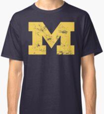 Vintage Michigan Block M Yellow Classic T-Shirt