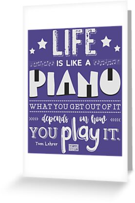 Life Is Piano Inspirational Quotes Music Lover By Porcodiseno