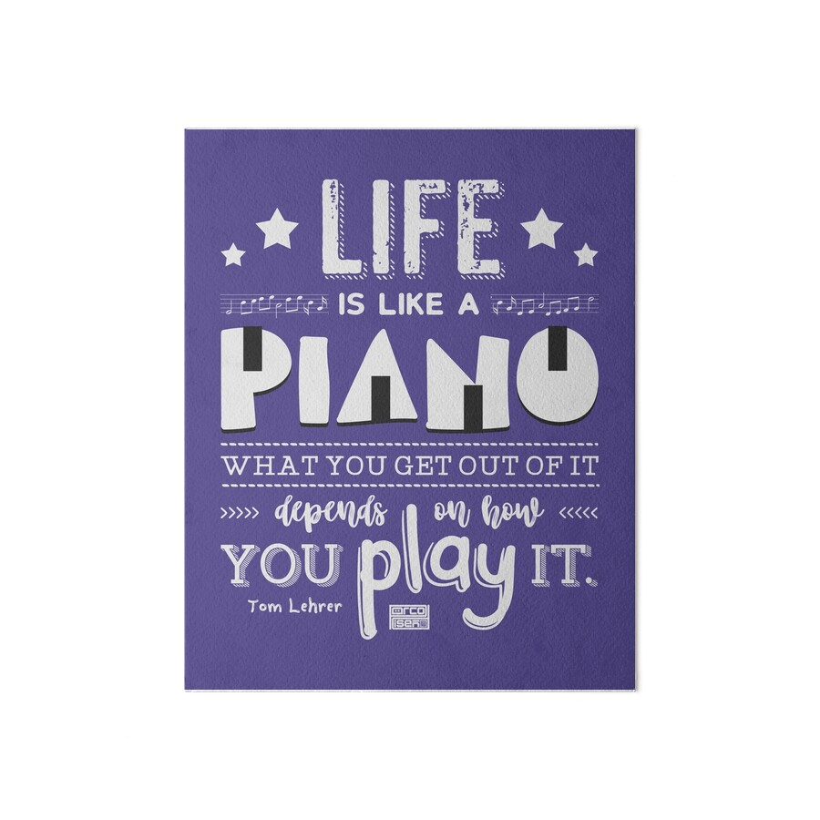 "Inspirational Quotes About Music And Life Life Is Piano Inspirational Quotes Music Lover"" Art Boards."