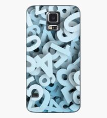 Numbers stacked Case/Skin for Samsung Galaxy