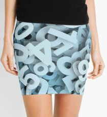 Numbers stacked Mini Skirt