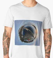 Foyle Marina at Dawn, Stereographic Men's Premium T-Shirt