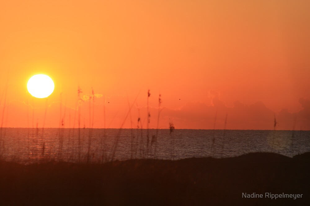 Sunset Over Bald Head Island by Nadine Rippelmeyer