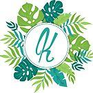 Monogramm-Buchstabe K | Personalisiert | Tropisches Design von PraiseQuotes