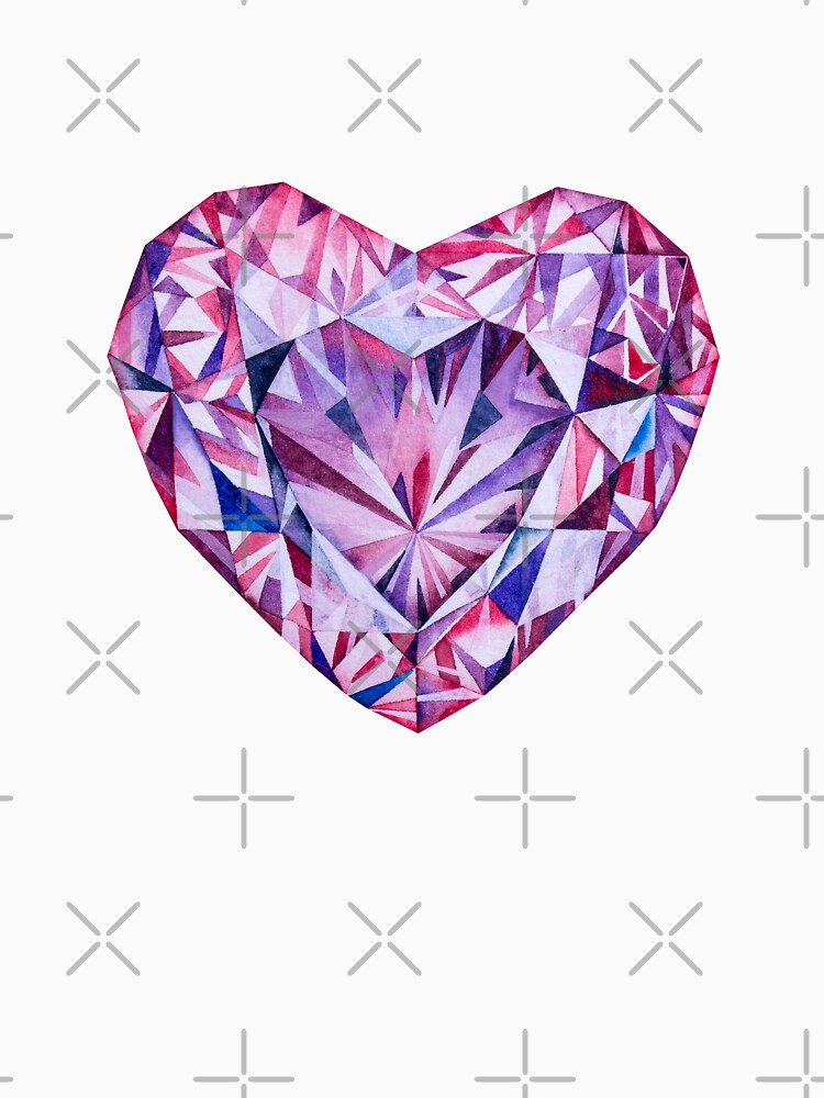 """Love The Stone Tile For A Patio: """"Pink Heart Gem Crystal Love Stone Alexandrite"""" Women's"""