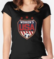 USA Women's Soccer National Shield since 1985 Women's Fitted Scoop T-Shirt
