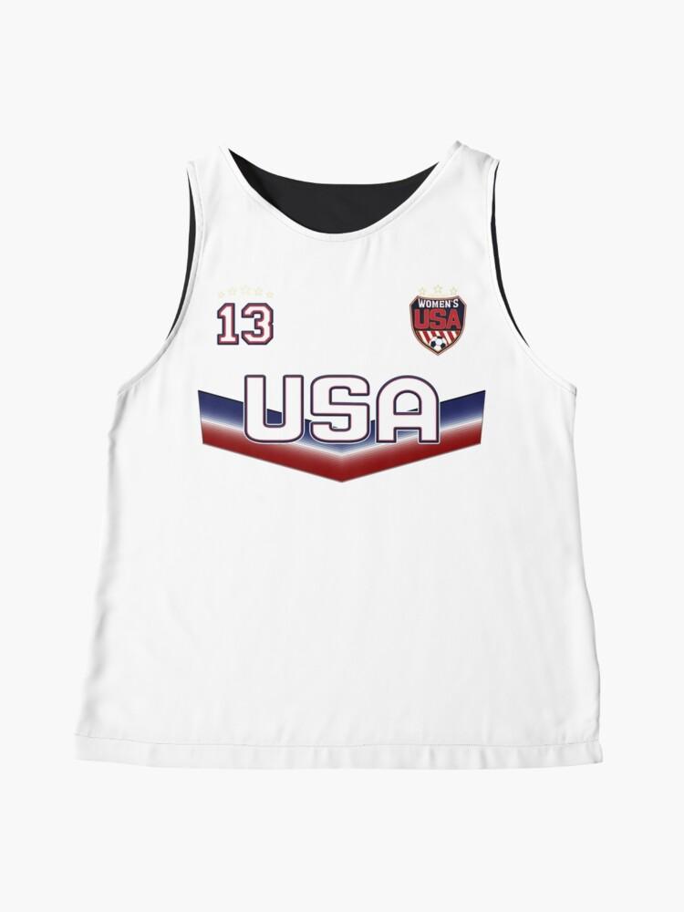 Alternative Ansicht von USA Soccer Female Team Nummer 13 Ärmelloses Top
