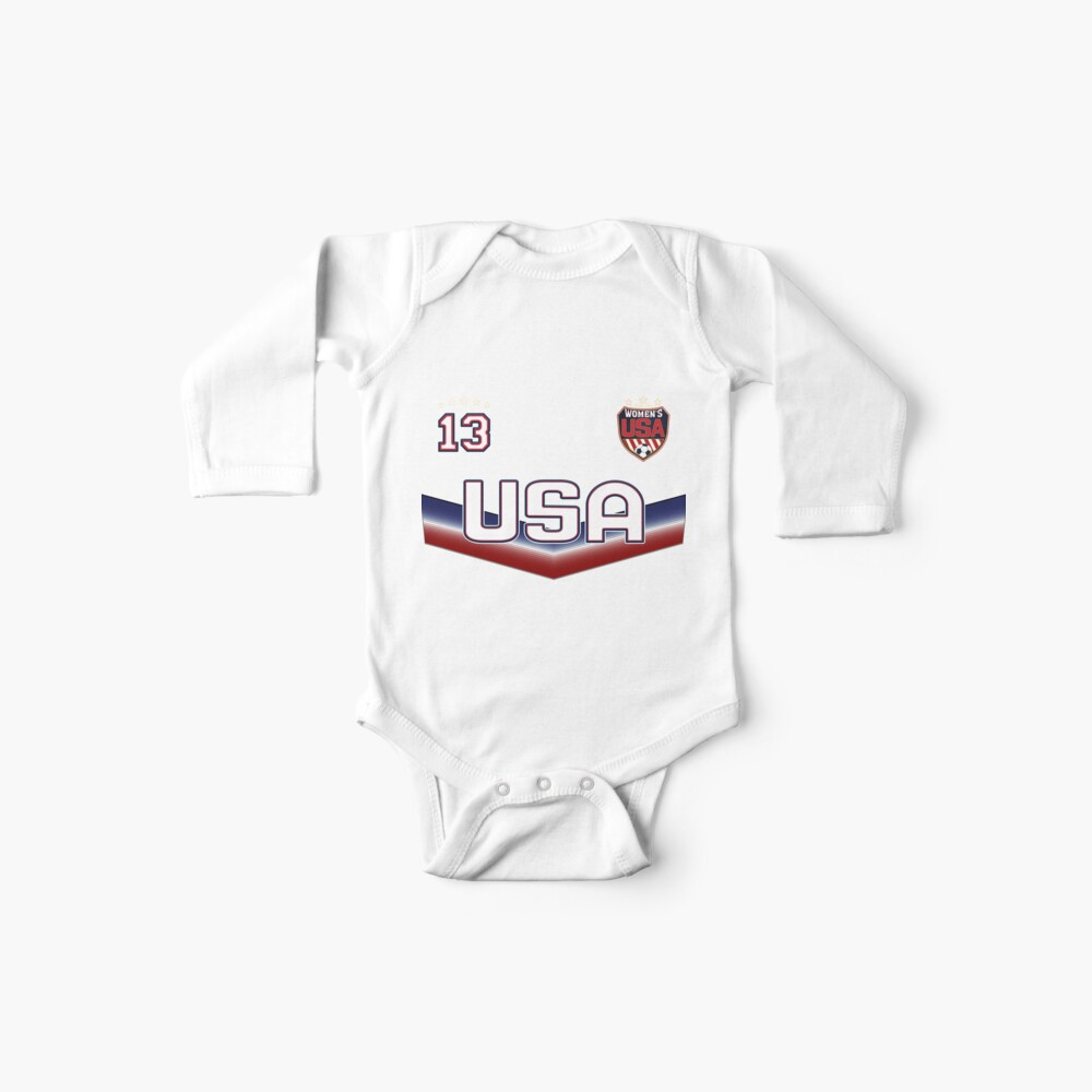 USA Soccer Female Team Nummer 13 Baby Body