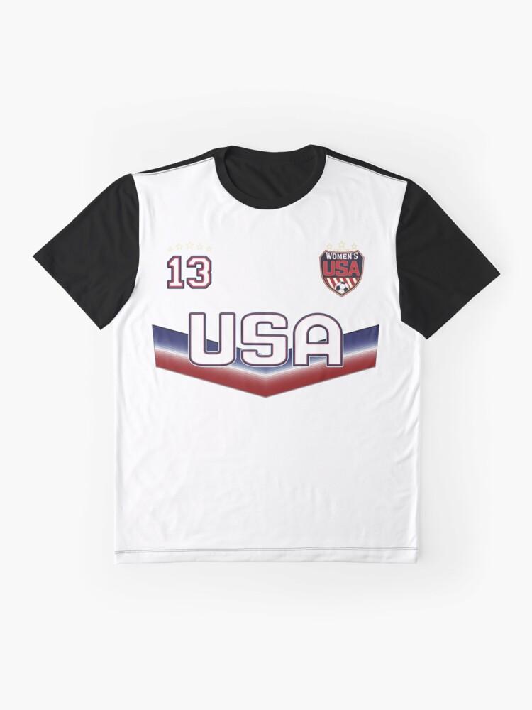 Alternative Ansicht von USA Soccer Female Team Nummer 13 Grafik T-Shirt