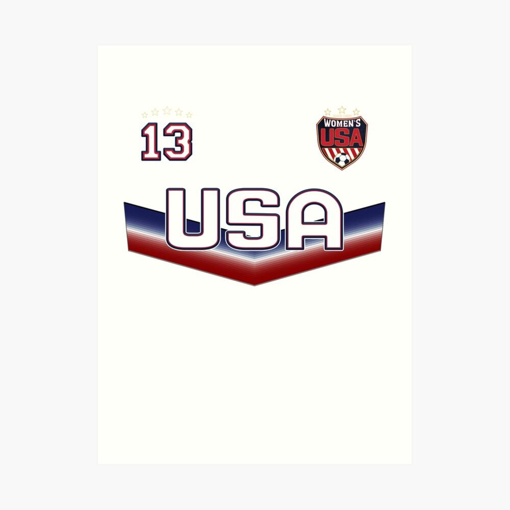 USA Soccer Female Team Nummer 13 Kunstdruck