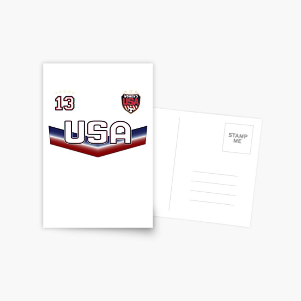 USA Soccer Female Team Nummer 13 Postkarte