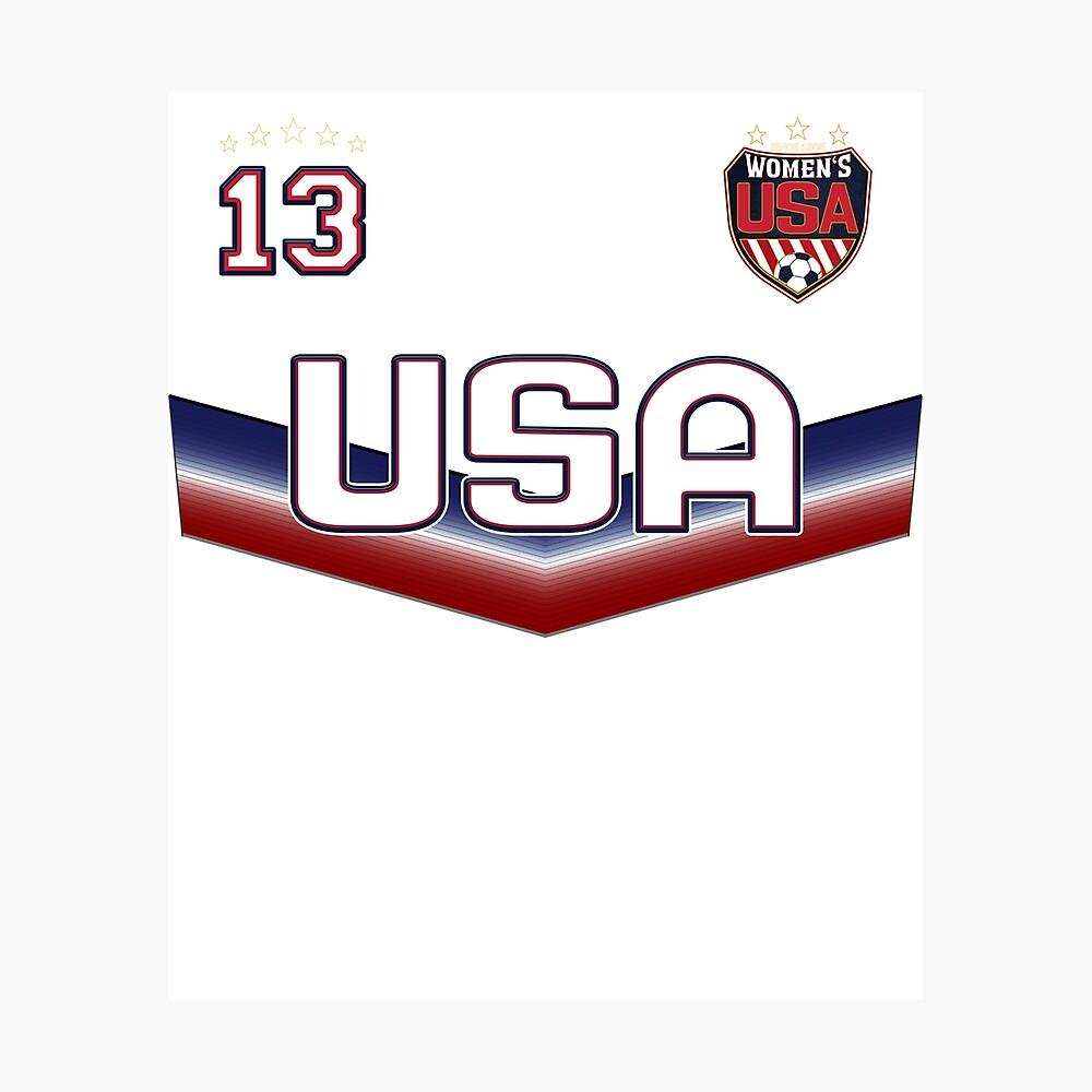 USA Soccer Female Team Nummer 13 Fotodruck