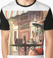 Parisian Tea time Graphic T-Shirt