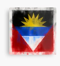 Antigua And Barbuda Flag Reworked No. 2, Series 1 Metalldruck