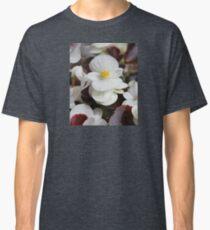 White Wax Begonia Flowers Classic T-Shirt