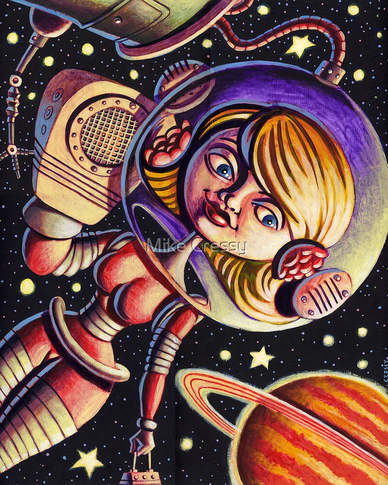 Space Girl's Mobile by Mike Cressy