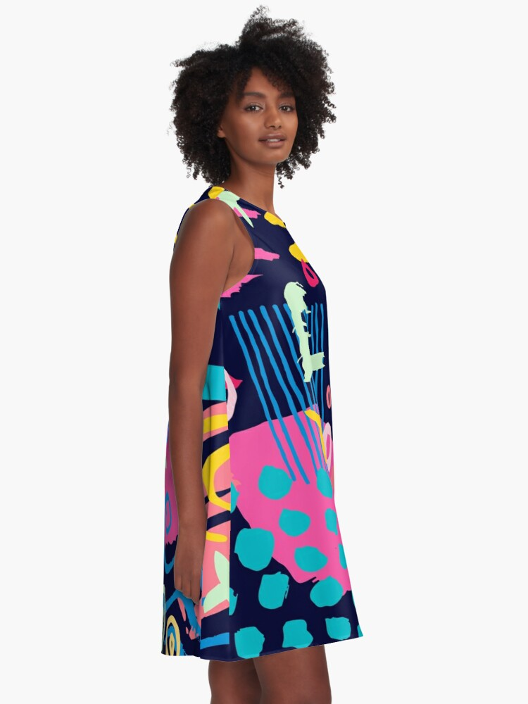Alternate view of Trendy Abstract Art Pattern A-Line Dress
