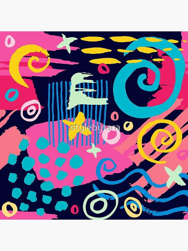 Trendy Abstract Art Pattern by stylebytara