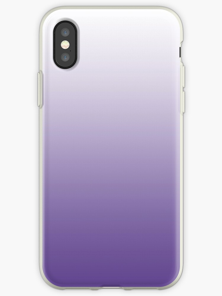 finest selection 4d2fd c2819 'Pantone Colour of the Year 2018 ULTRA VIOLET OMBRE WITH WHITE' iPhone Case  by ozcushions