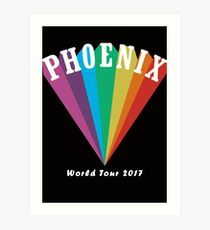 Phoenix World Tour 2017 Art Print