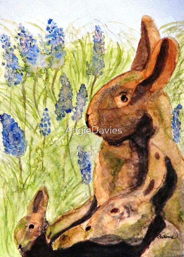 Terra Cotta Bunny Family by AngieDavies