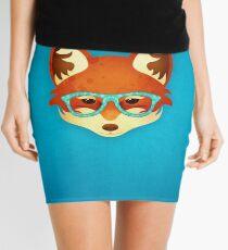 Hipster Fox: Blue Mini Skirt