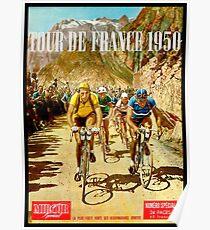 LE TOUR DE FRANKREICH; Vintage Fahrrad Racing Print Poster