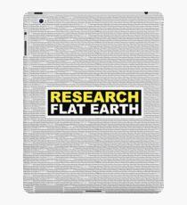 RESEARCH FLAT EARTH MULTI-LANGUAGE iPad Case/Skin