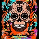 SKULL CULT ORANGE by fuxart
