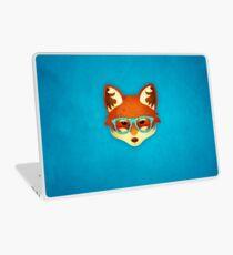 Hipster Fox: Blue Laptop Skin